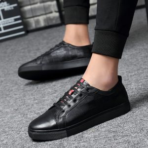 Skateboarding Shoes, Genuine Leather Sport Sneakers, Walking Shoes, Men Or Women Unisex