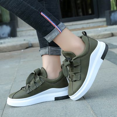 Women's Shoes, Casual, Tenis Feminino, Women's  Sneakers Flats Breathable Lace Up Ladies
