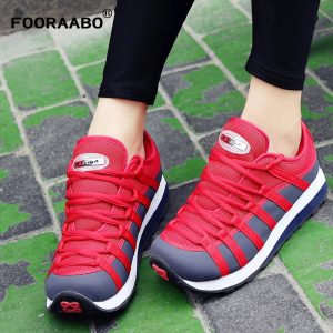 Women's Casual Shoes, Zapatos Mujer, Breathable Women's Sneakers, Ladies Shoes Stripe Students Shoes
