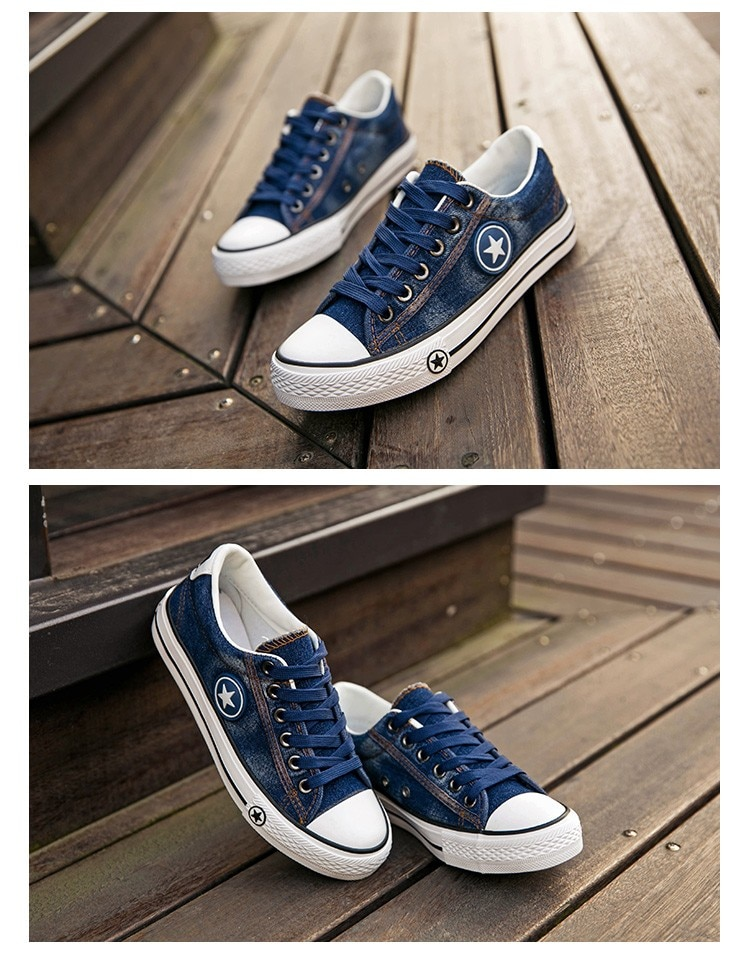 2019 Women's Sneakers, Denim, Casual Shoes, Female Canvas Shoes 20
