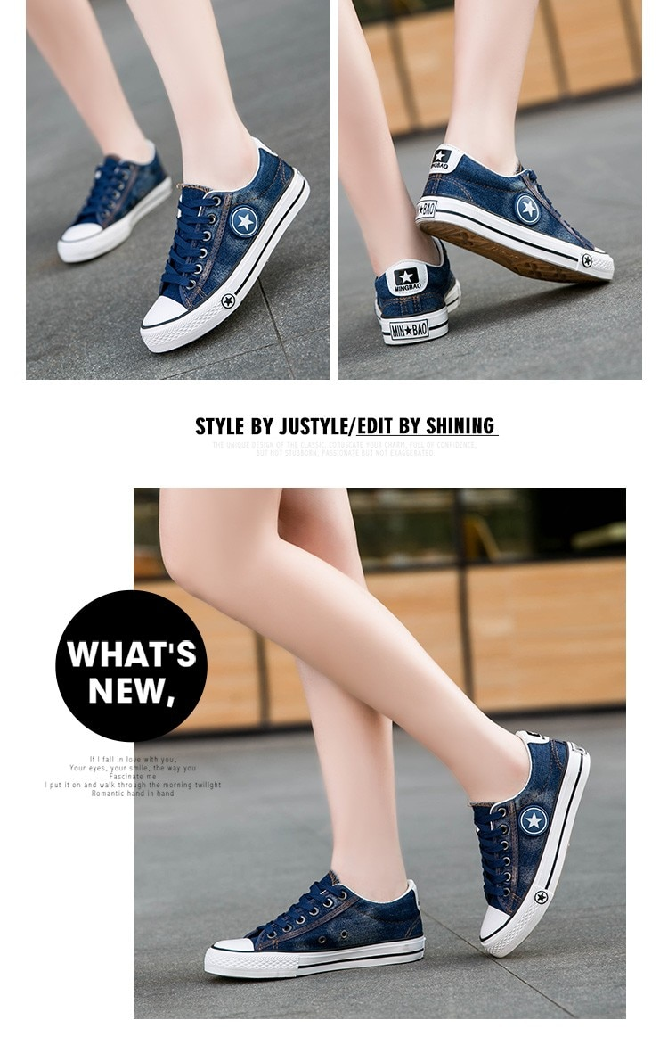 2019 Women's Sneakers, Denim, Casual Shoes, Female Canvas Shoes 19