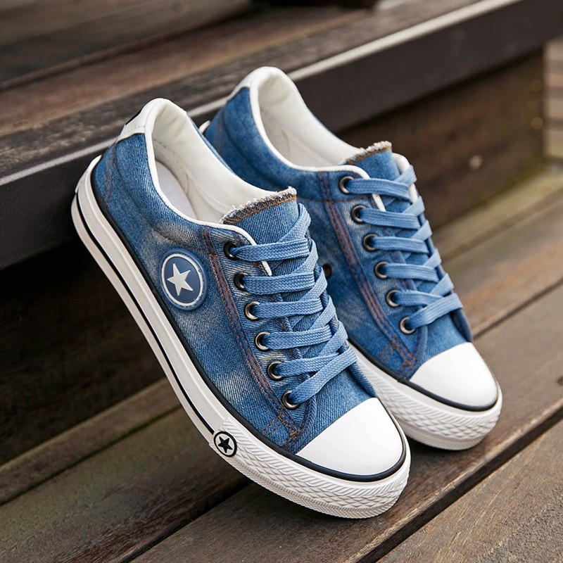 2019 Women's Sneakers, Denim, Casual Shoes, Female Canvas Shoes 14
