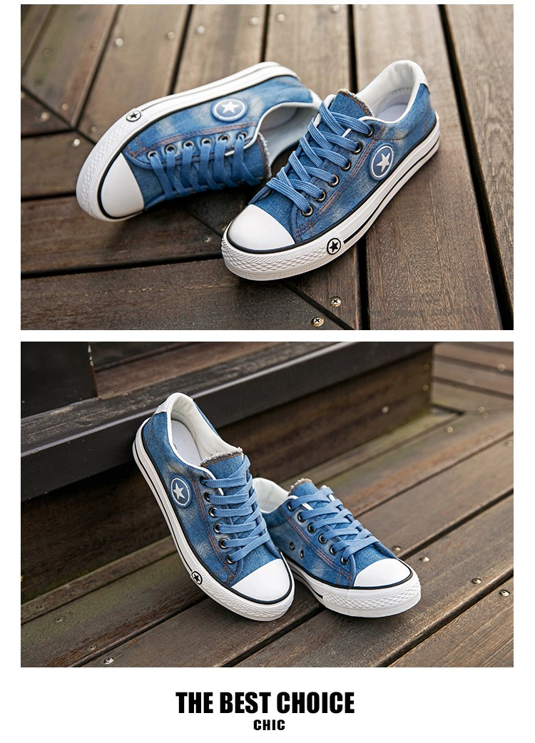 2019 Women's Sneakers, Denim, Casual Shoes, Female Canvas Shoes 24