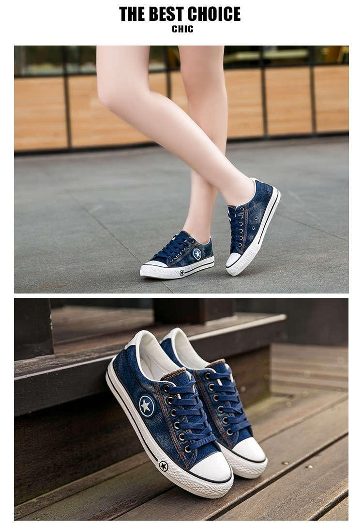 2019 Women's Sneakers, Denim, Casual Shoes, Female Canvas Shoes 21