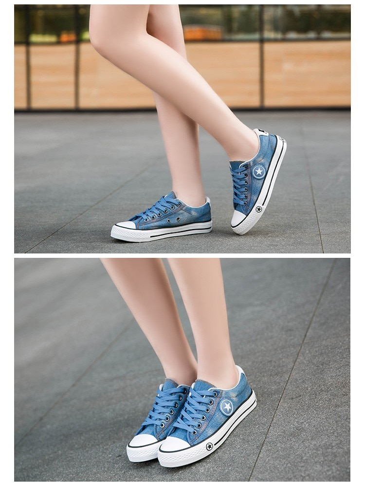 2019 Women's Sneakers, Denim, Casual Shoes, Female Canvas Shoes 25