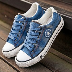 2019 Women's Sneakers, Denim, Casual Shoes, Female Canvas Shoes